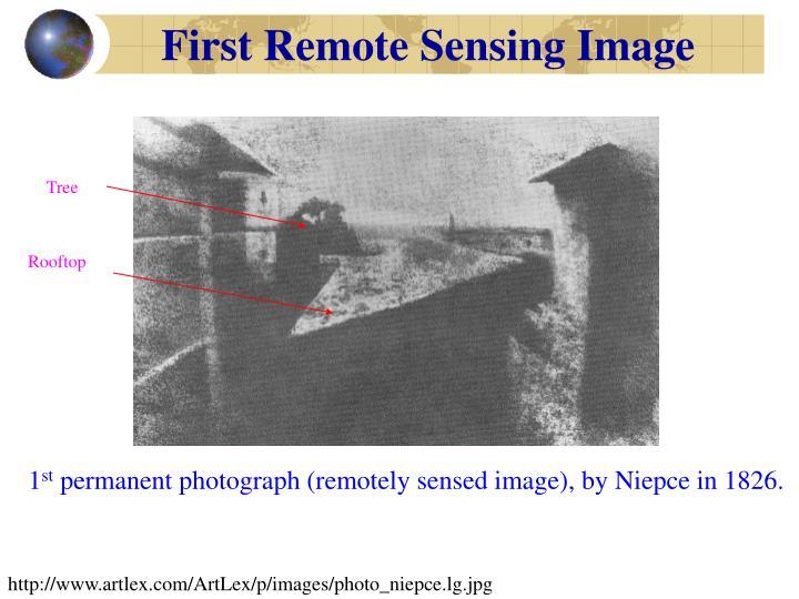 First Remote Sensing Image