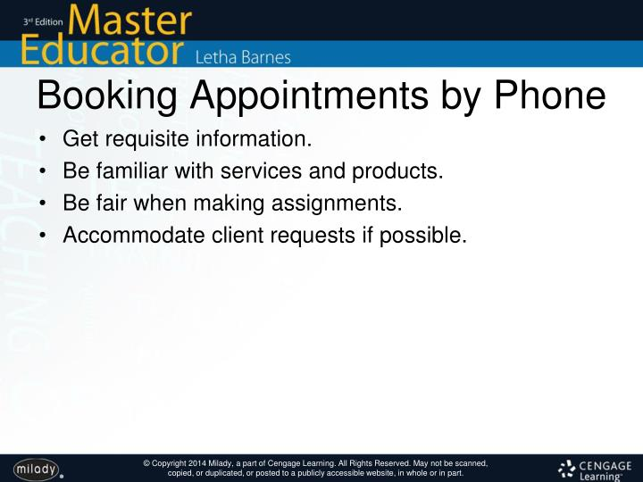 Booking Appointments by Phone