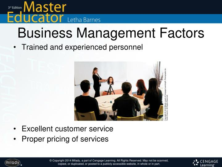 Business Management Factors