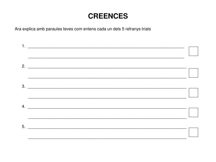 CREENCES