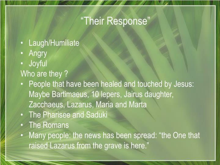 """Their Response"""