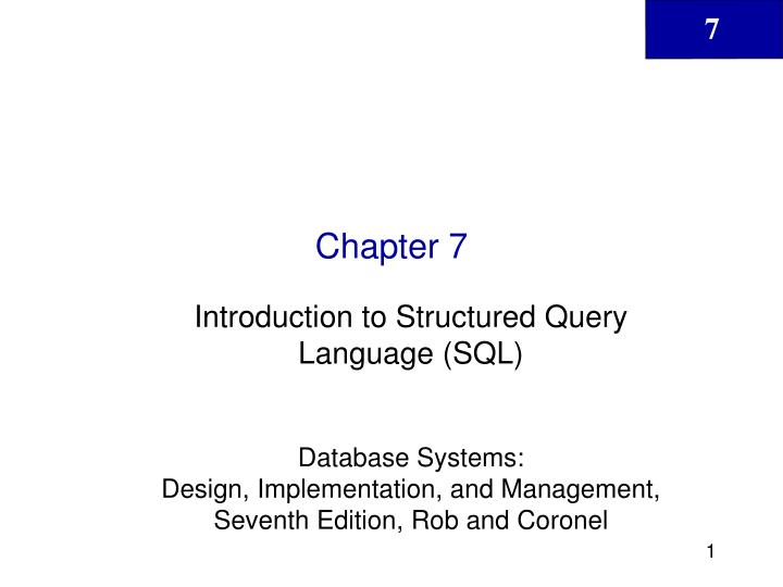 introduction to structured query language About a two-week program providing an efficient, but in-depth introduction to the fundamental syntax of structured query language (sql) for querying, storage, and manipulation of data from a variety of databases.