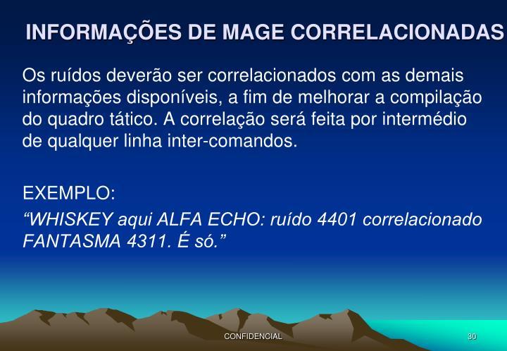 INFORMAÇÕES DE MAGE CORRELACIONADAS