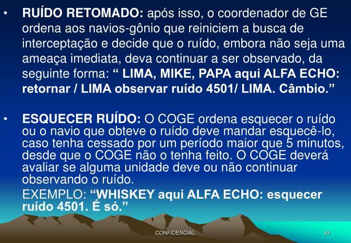 RUÍDO RETOMADO: