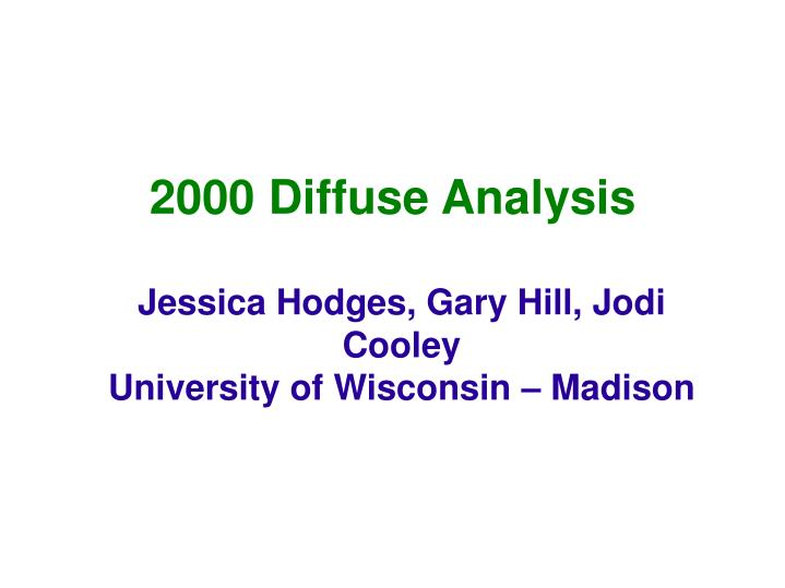 2000 diffuse analysis