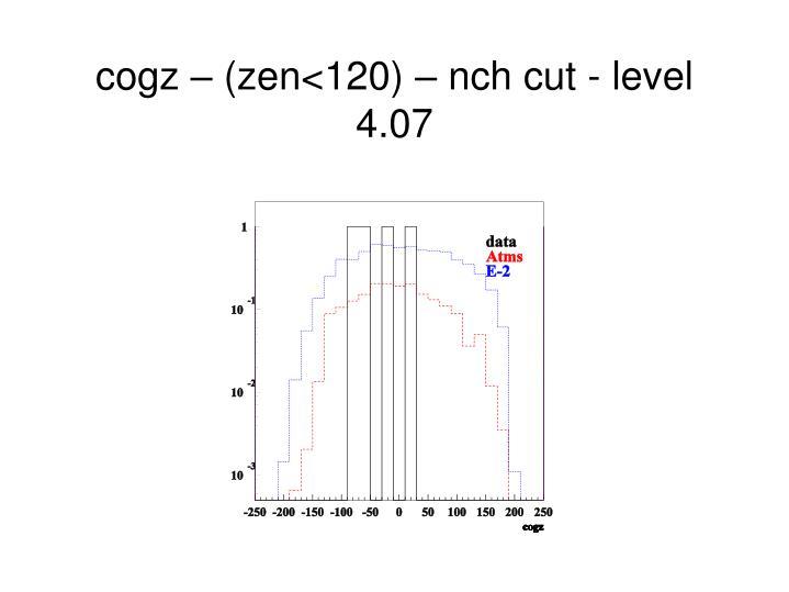 cogz – (zen<120) – nch cut - level 4.07