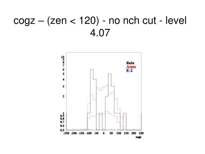 cogz – (zen < 120) - no nch cut - level 4.07