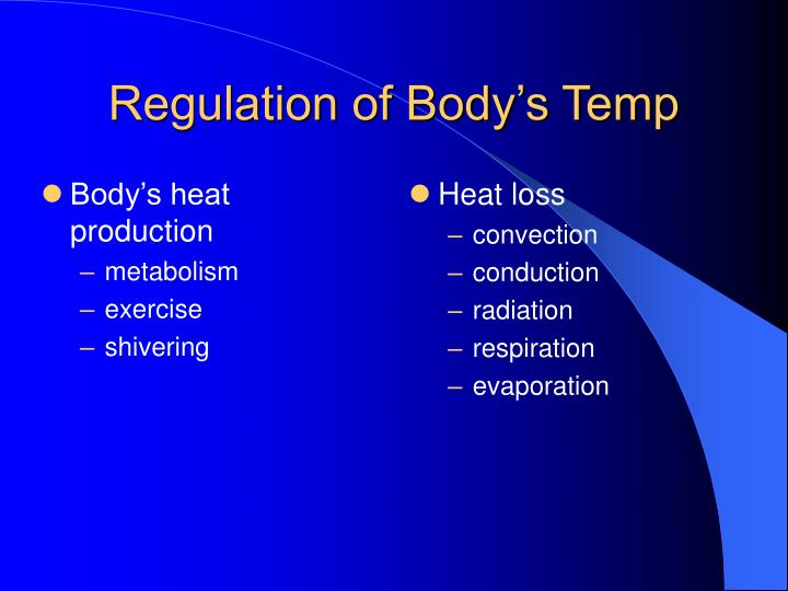 Body's heat production
