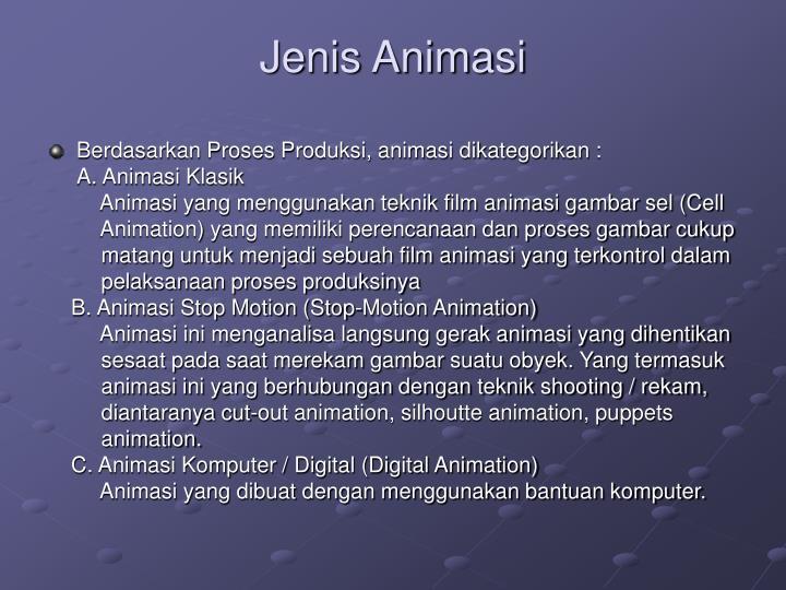 Jenis Animasi