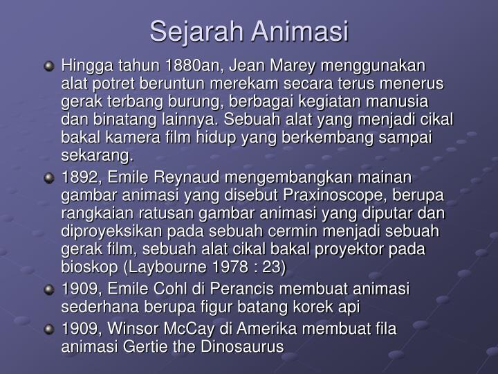Sejarah Animasi