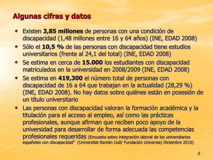 Algunas cifras y datos