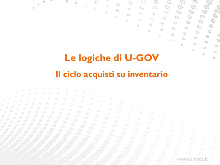 Le logiche di U-GOV