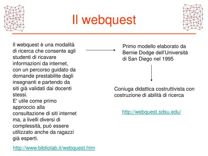 Il webquest