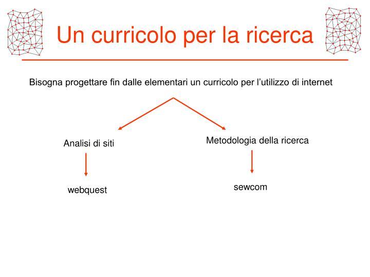 Un curricolo per la ricerca