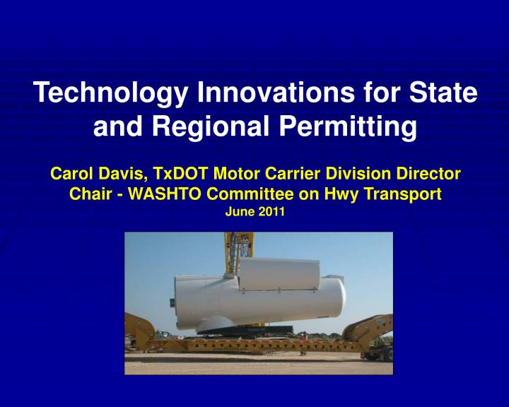 ppt technology innovations for state and regional