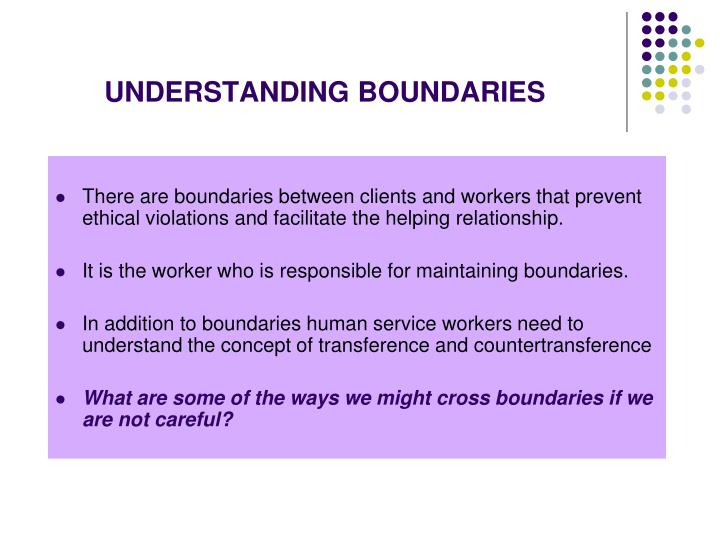 UNDERSTANDING BOUNDARIES