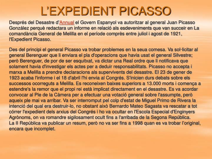 L'EXPEDIENT PICASSO