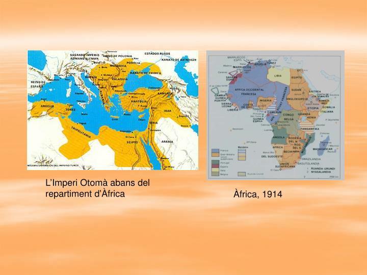 L'Imperi Otomà abans del repartiment d'Àfrica
