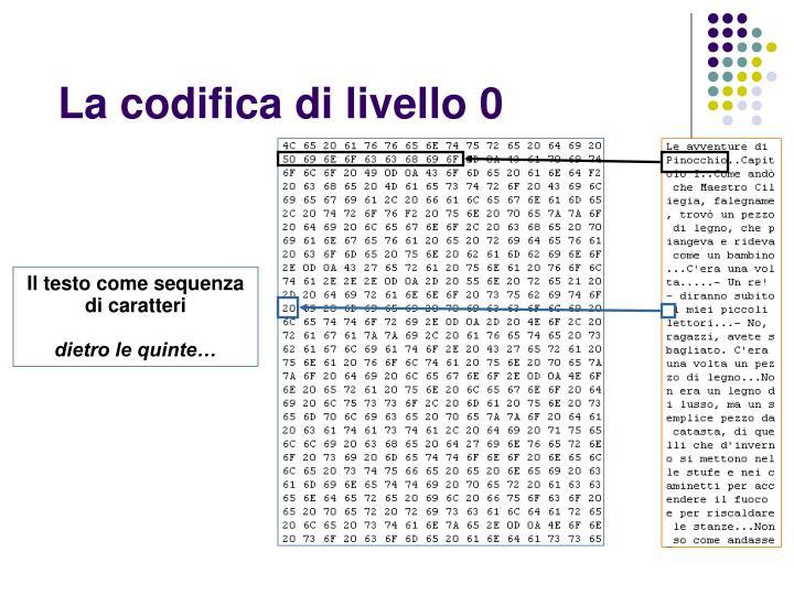 La codifica di livello 0