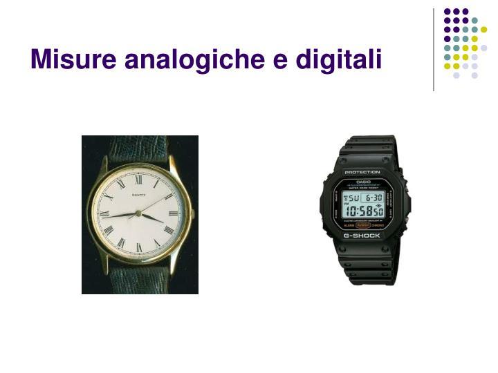 Misure analogiche e digitali