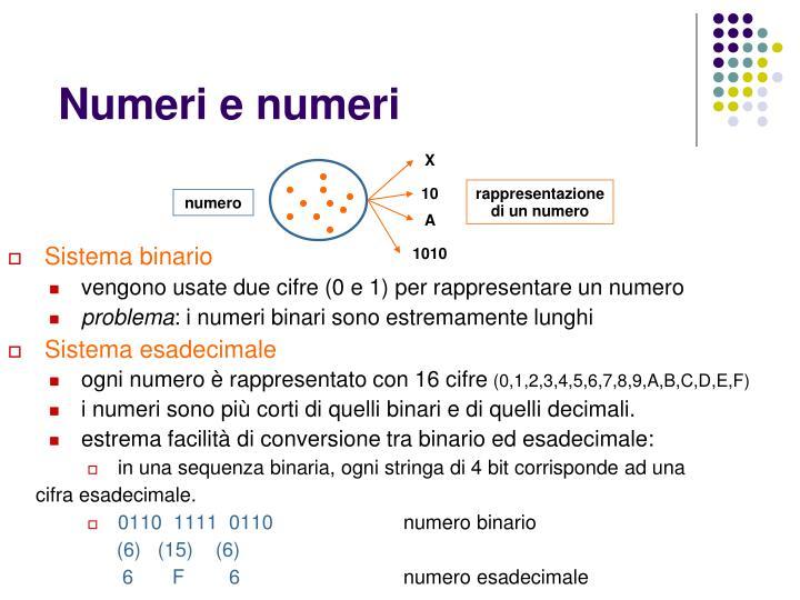 Numeri e numeri