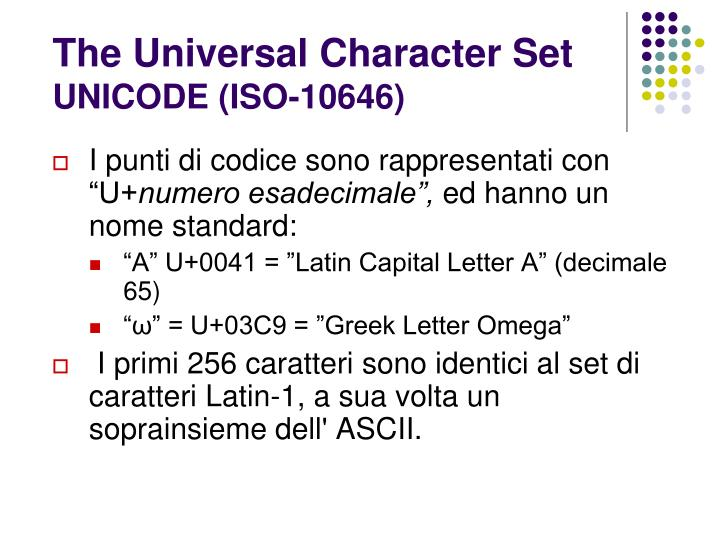 The Universal Character Set