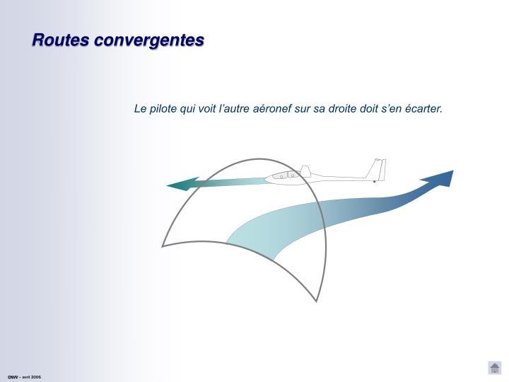 Routes convergentes