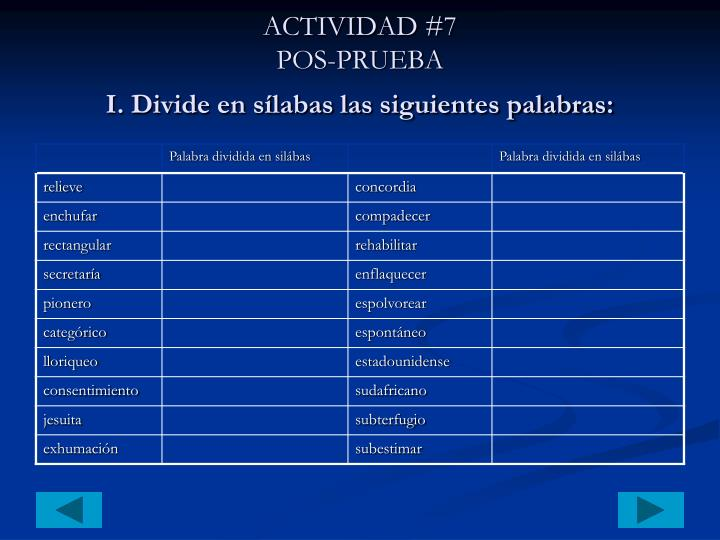 ACTIVIDAD #7