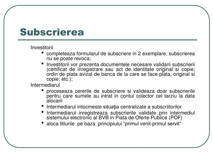 Subscrierea