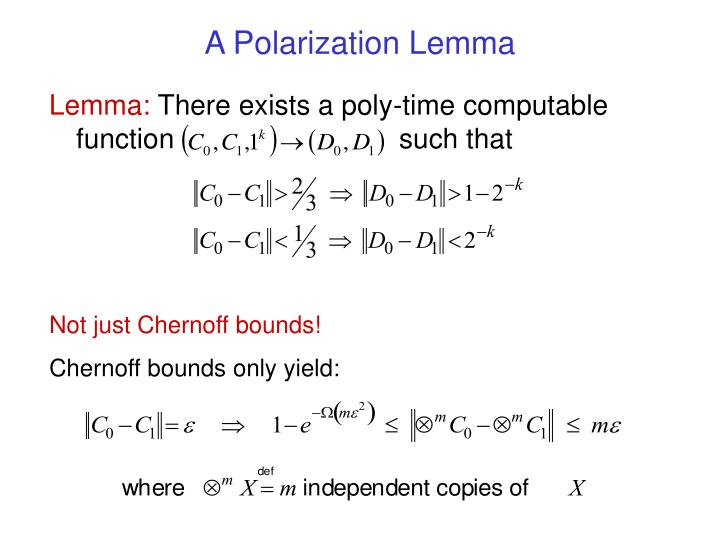 A Polarization Lemma