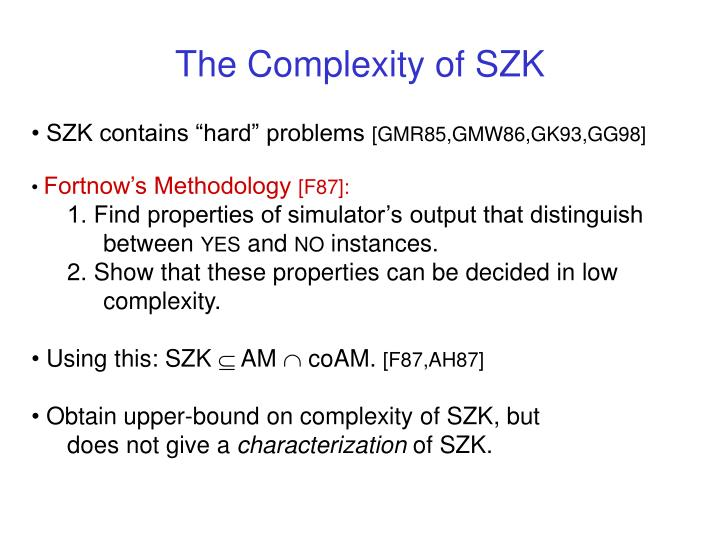The Complexity of SZK