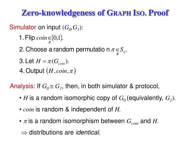 Zero-knowledgeness