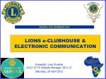 lions e clubhouse electronic communication