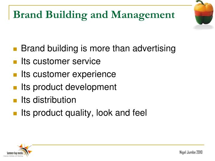 Brand Building and Management