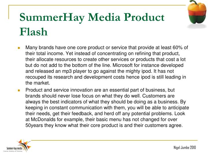 SummerHay Media Product Flash