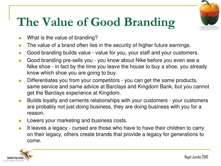 The Value of Good Branding
