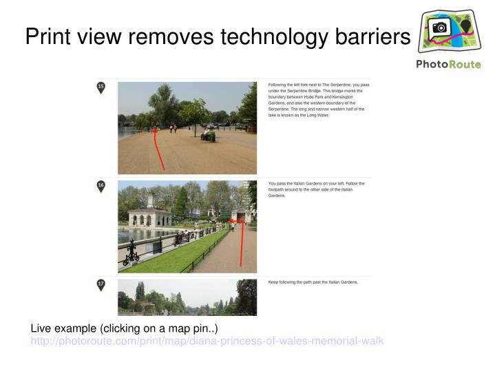 Print view removes technology barriers