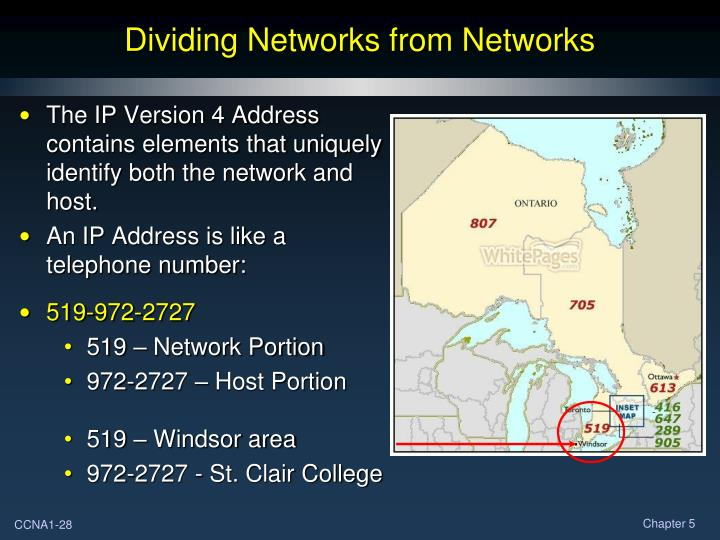 Dividing Networks from Networks