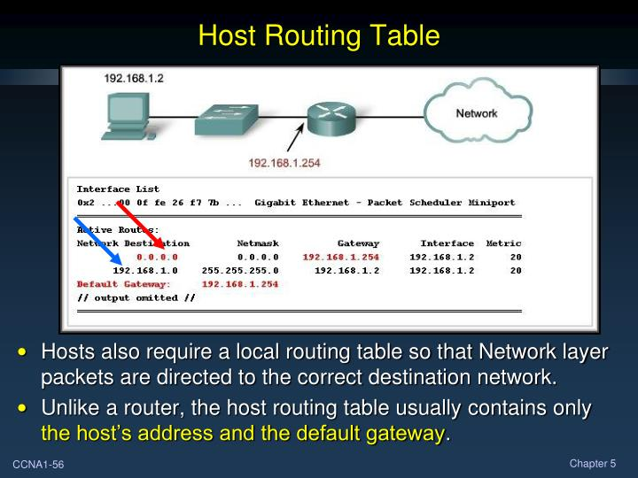 Host Routing Table