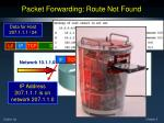 packet forwarding route not found