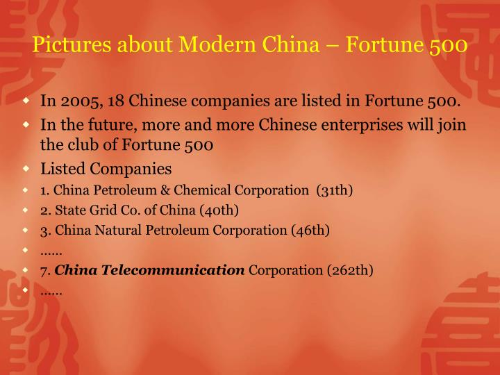 Pictures about Modern China – Fortune 500