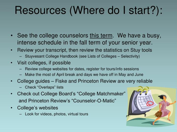 Resources (Where do I start?):