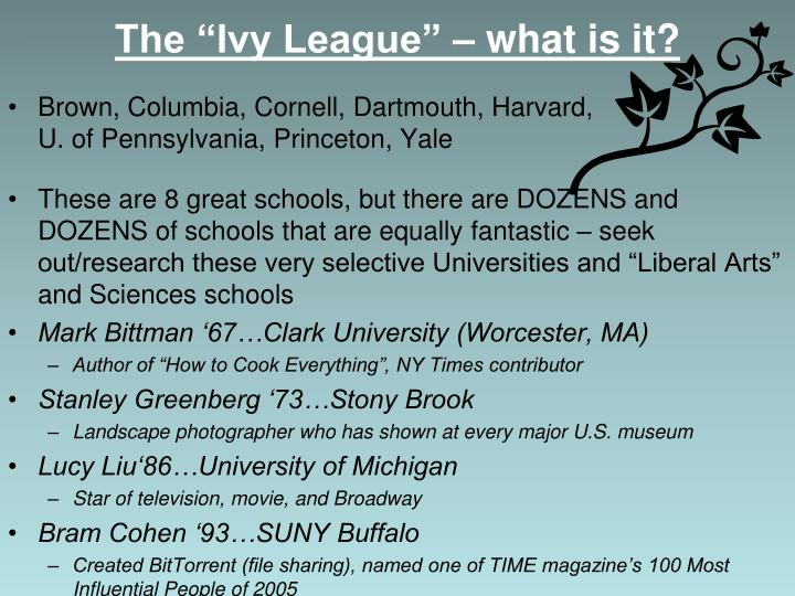"The ""Ivy League"" – what is it?"