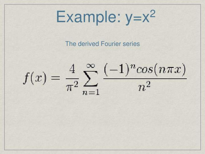 Example: y=x