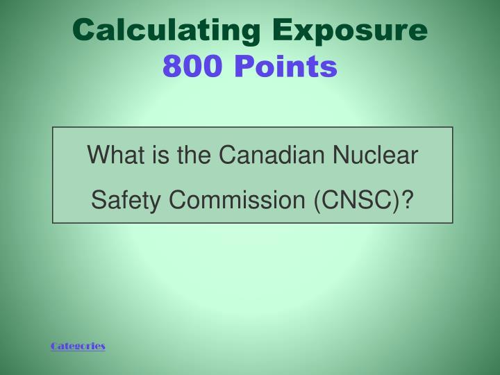 Calculating Exposure