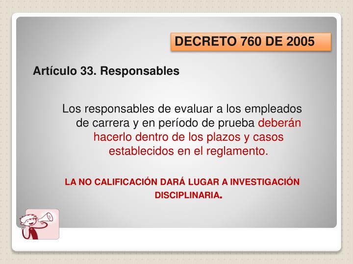 DECRETO 760 DE 2005