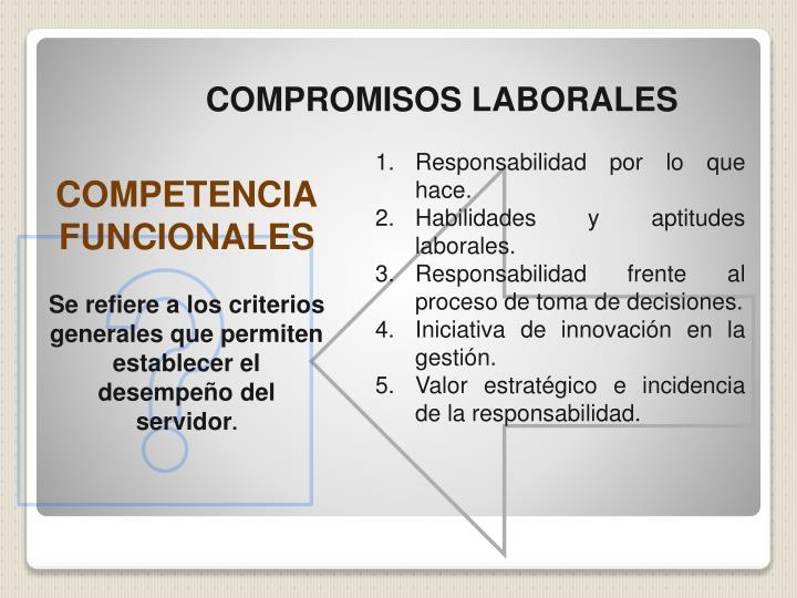 COMPROMISOS LABORALES