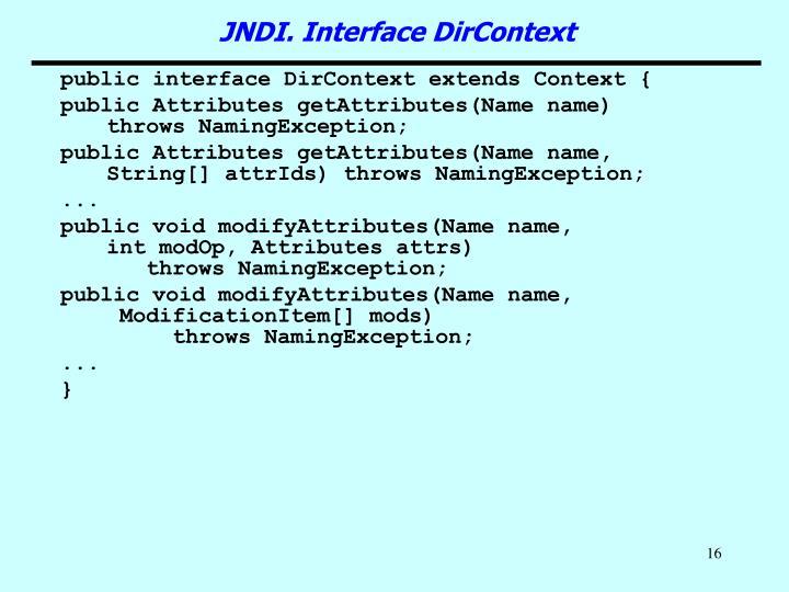 public interface DirContext extends Context {