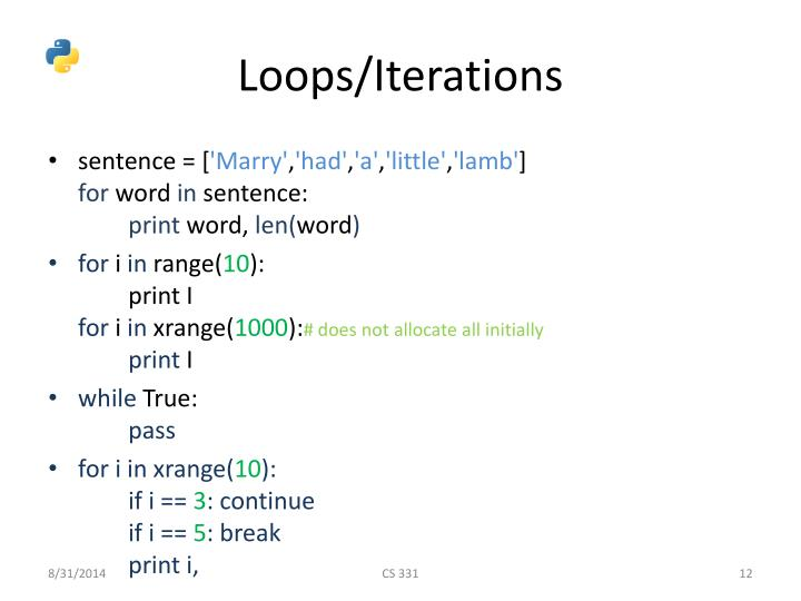 Loops/Iterations