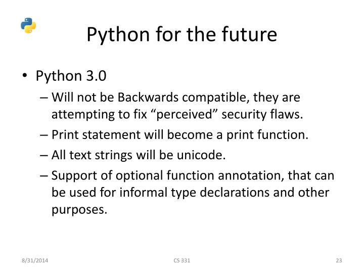Python for the future